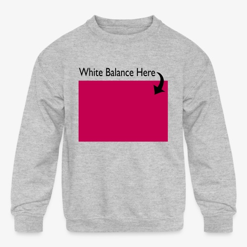White Balance - Kids' Crewneck Sweatshirt