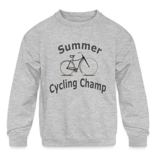 Summer Cycling Champ - Kids' Crewneck Sweatshirt