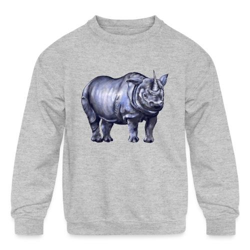 One horned rhino - Kids' Crewneck Sweatshirt