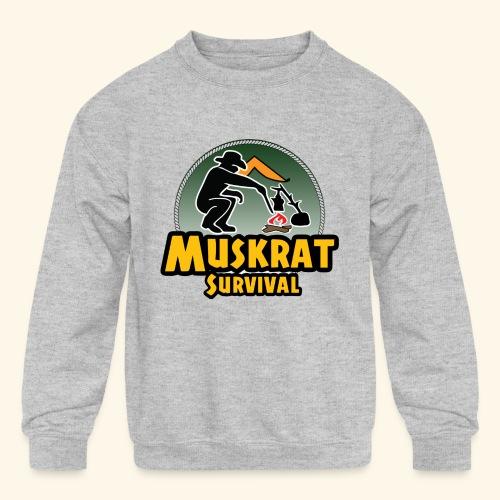 Muskrat round logo - Kids' Crewneck Sweatshirt