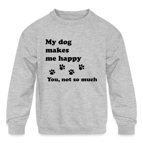 love dog 2 - Kids' Crewneck Sweatshirt