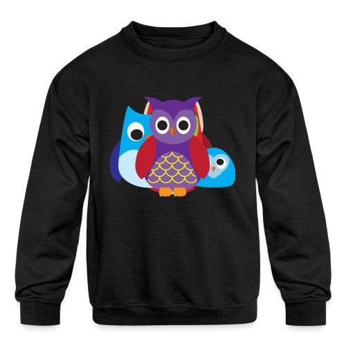 Cute Owls Eyes - Kids' Crewneck Sweatshirt