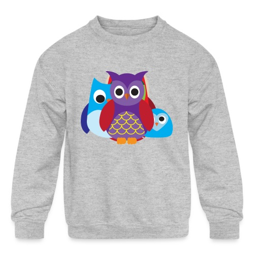 Cute Owls Eyes - Kids' Crewneck Sweatshirt