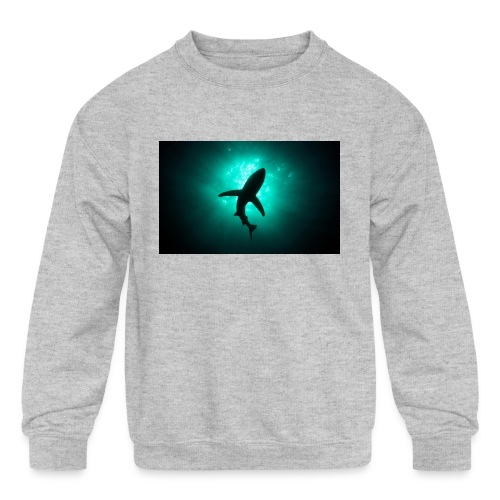 Shark in the abbis - Kids' Crewneck Sweatshirt