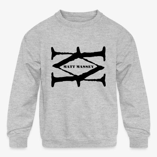 Matt Massey Logo Black - Kids' Crewneck Sweatshirt