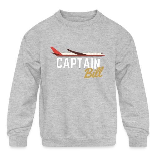 Captain Bill Avaition products - Kids' Crewneck Sweatshirt