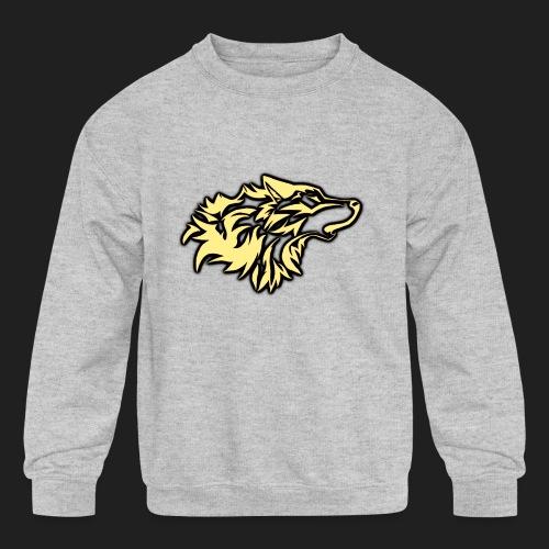 wolfepacklogobeige png - Kids' Crewneck Sweatshirt