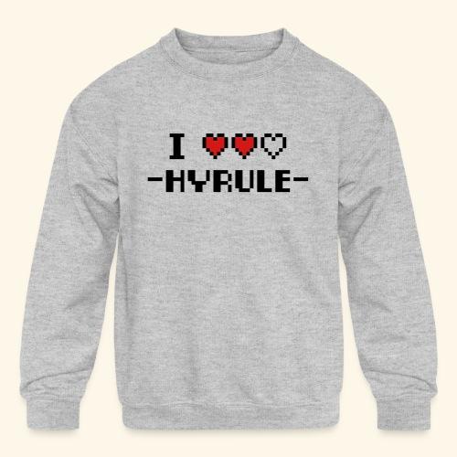 I Love Hyrule - Kids' Crewneck Sweatshirt