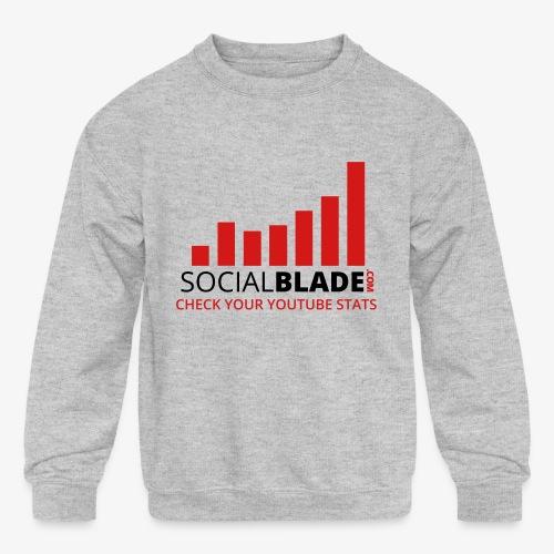Traditional Logo Tagline - Kids' Crewneck Sweatshirt