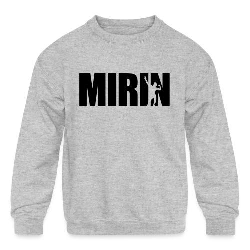 Zyzz Mirin Pose text - Kids' Crewneck Sweatshirt