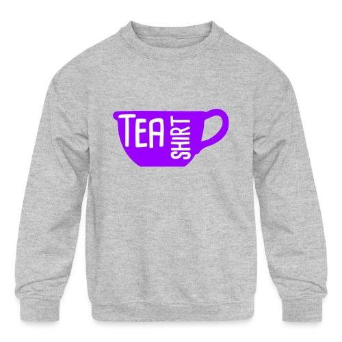 Tea Shirt Purple Power of Tea - Kids' Crewneck Sweatshirt