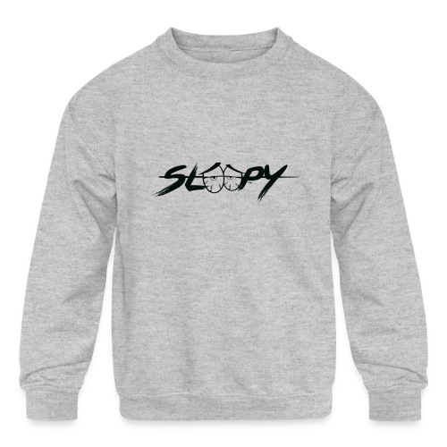 Sleepy Logo Black - Kids' Crewneck Sweatshirt