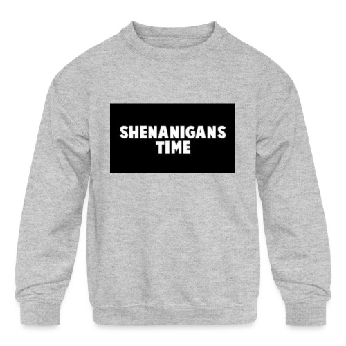 SHENANIGANS TIME MERCH - Kids' Crewneck Sweatshirt