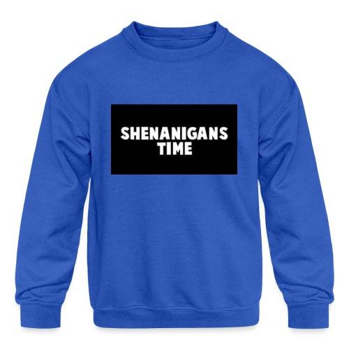 SHENANIGANS TIME MERCH - Kids' Crewneck Sweatshirt
