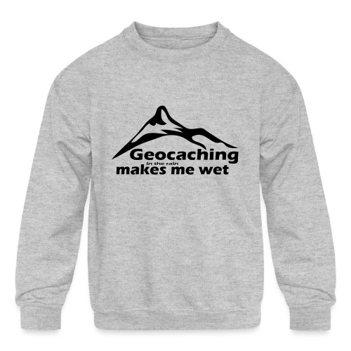 Wet Geocaching - Kids' Crewneck Sweatshirt