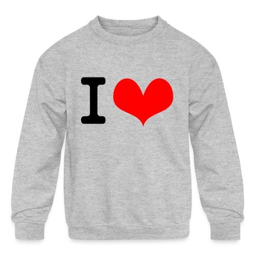I Love what - Kids' Crewneck Sweatshirt