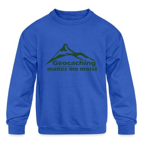 Geocaching in the Rain - Kids' Crewneck Sweatshirt