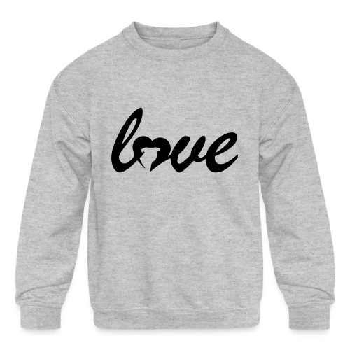 Dog Love - Kids' Crewneck Sweatshirt