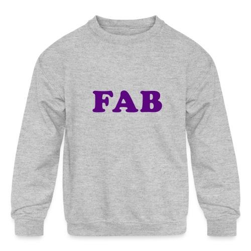 FAB Tank - Kids' Crewneck Sweatshirt