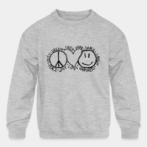 peace - Kids' Crewneck Sweatshirt