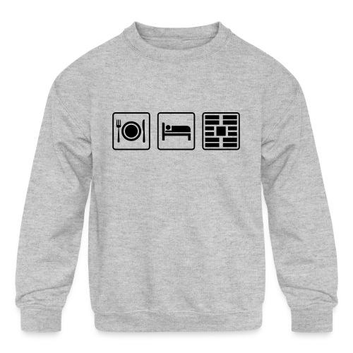 Eat Sleep Urb big fork - Kids' Crewneck Sweatshirt