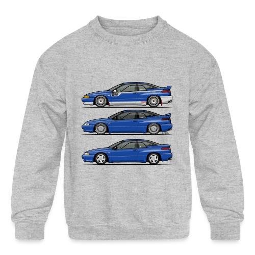 Subie Alcyone SVX Laguna Blue Pearl Trio - Kids' Crewneck Sweatshirt