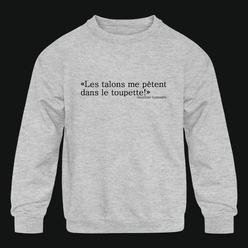 HEELS IN TOUPETTES - Kids' Crewneck Sweatshirt