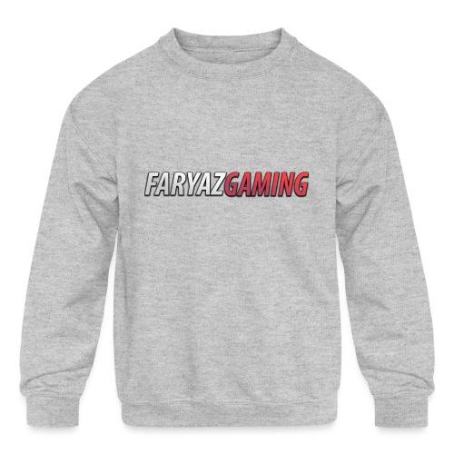 FaryazGaming Text - Kids' Crewneck Sweatshirt