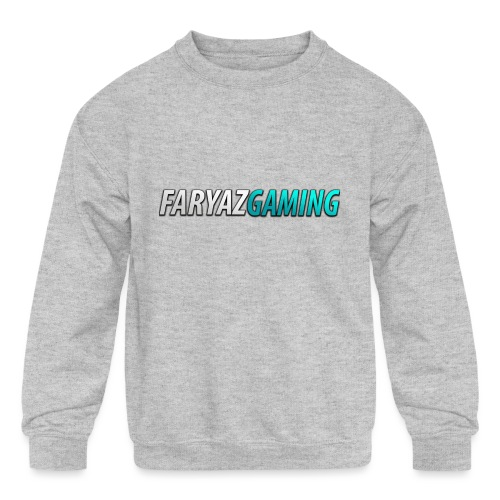 FaryazGaming Theme Text - Kids' Crewneck Sweatshirt