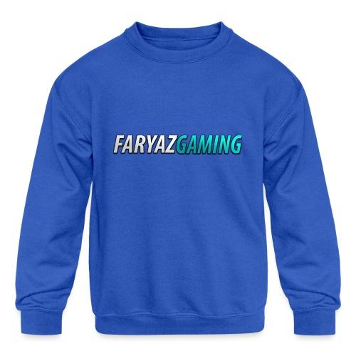 FaryazGaming Theme Text - Kids' Crewneck Sweatshirt