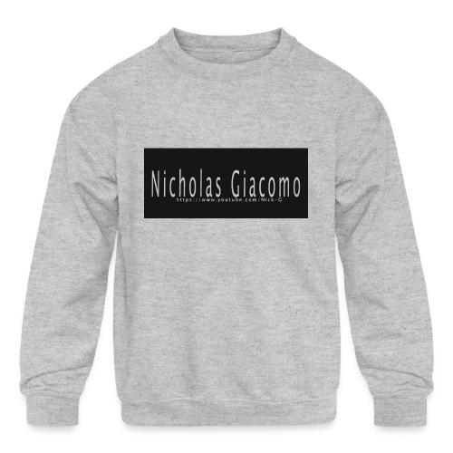 Nick_logo_shirt - Kids' Crewneck Sweatshirt