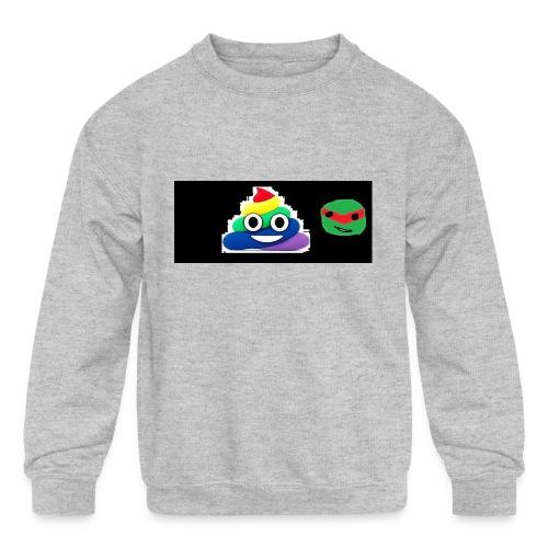 ninja poop - Kids' Crewneck Sweatshirt