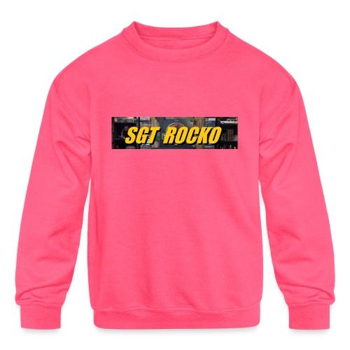 RockoWear Banner - Kids' Crewneck Sweatshirt