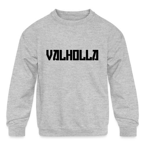 valholla futureprint - Kids' Crewneck Sweatshirt