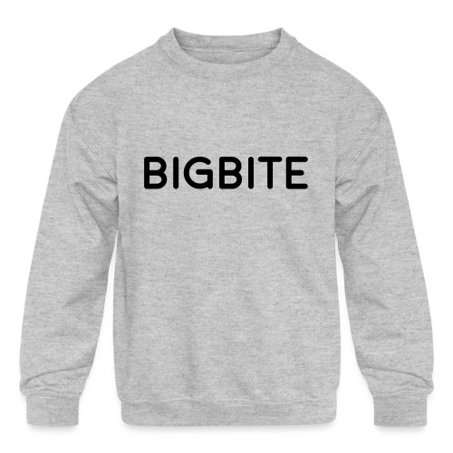 BIGBITE logo red (USE) - Kids' Crewneck Sweatshirt