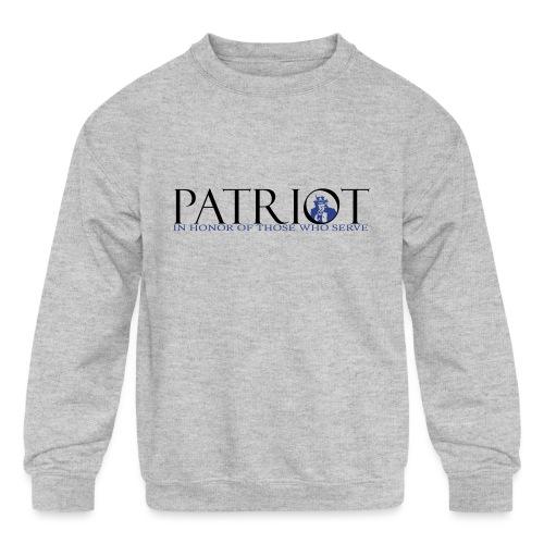 PATRIOT_SAM_USA_LOGO - Kids' Crewneck Sweatshirt
