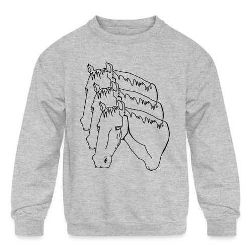horsey pants - Kids' Crewneck Sweatshirt