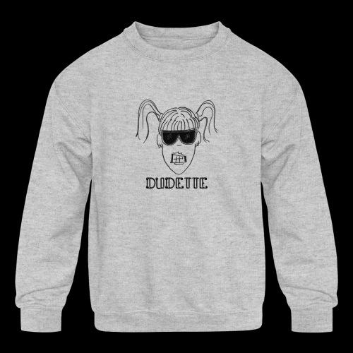 Dudette Head 1 - Kids' Crewneck Sweatshirt