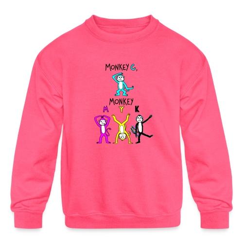 monkey see myk - Kids' Crewneck Sweatshirt