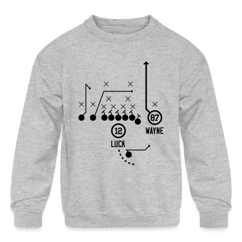 X O Andrew Luck to Reggie Wayne - Kids' Crewneck Sweatshirt