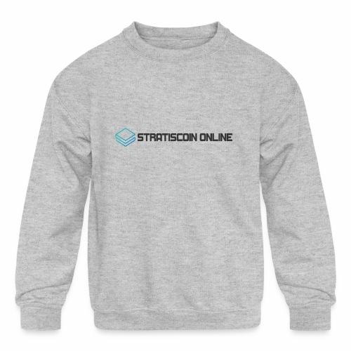 stratiscoin online dark - Kids' Crewneck Sweatshirt