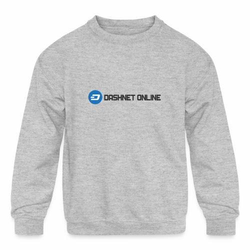 dashnet online dark - Kids' Crewneck Sweatshirt