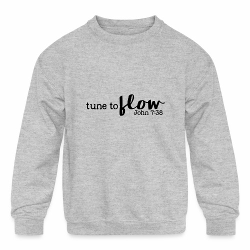 Tune to Flow - Design 3 - Kids' Crewneck Sweatshirt