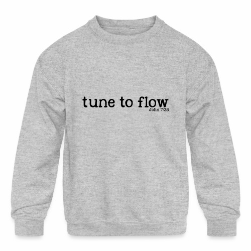 Tune to Flow - Design 2 - Kids' Crewneck Sweatshirt