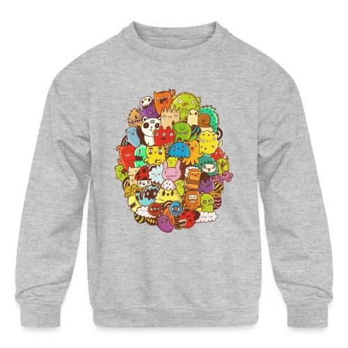 Doodle for a poodle - Kids' Crewneck Sweatshirt