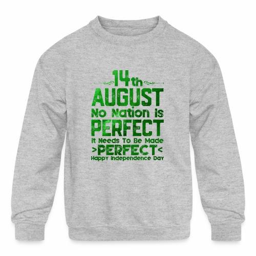 14th August Independence Day - Kids' Crewneck Sweatshirt
