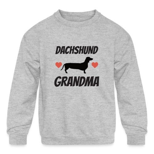 Dachshund Grandma - Kids' Crewneck Sweatshirt