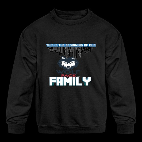 We Are Linked As One Big WolfPack Family - Kids' Crewneck Sweatshirt