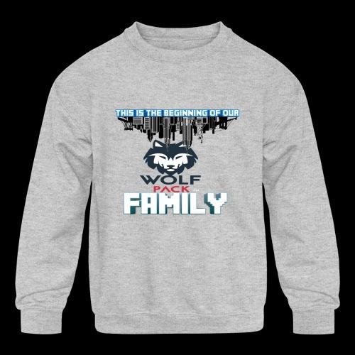 We Are Linked As One Big WolfPack Family - Kids' Crewneck Sweatshirt
