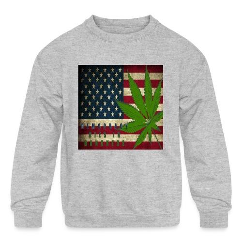 Political humor - Kids' Crewneck Sweatshirt